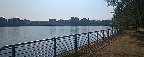 Rummelsburger Bucht in Berlin Friedrichshain