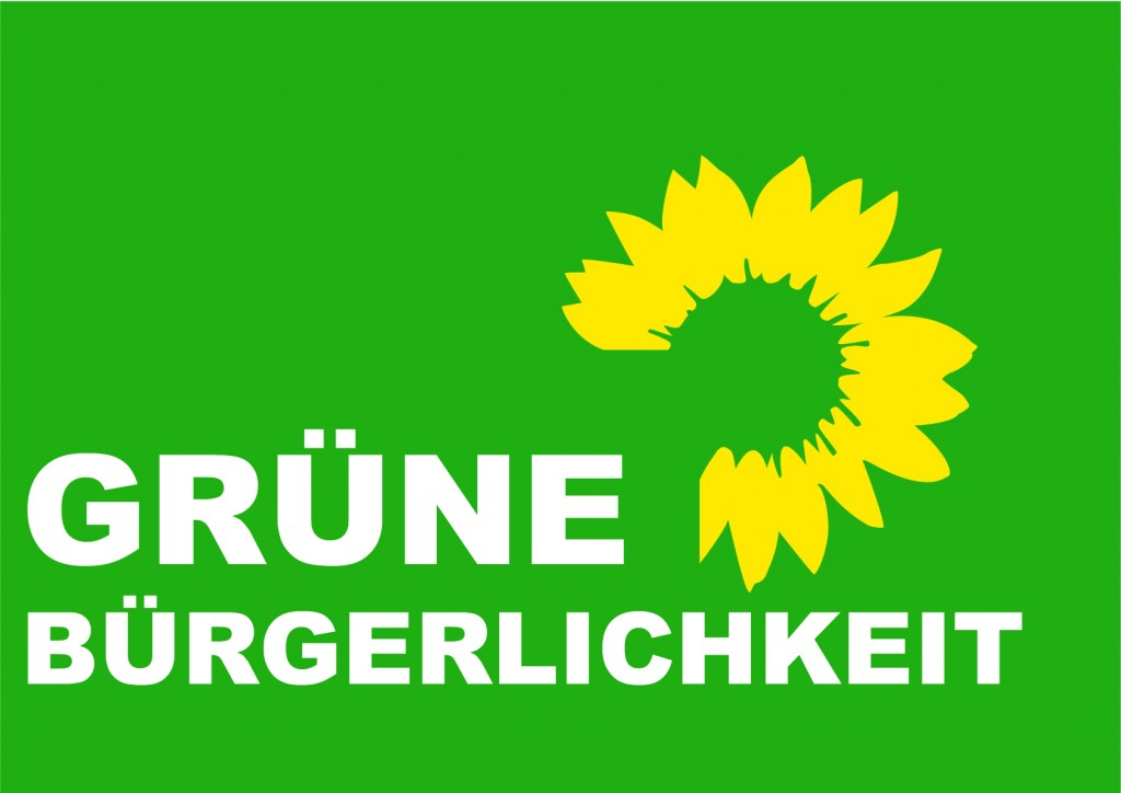 """Grüne Bürgerlichkeit - Eine Adaption des Logos der Partei """"Die Grünen"""""""