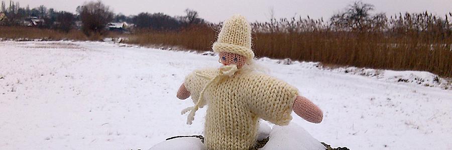 Das Schneekind in der Natur