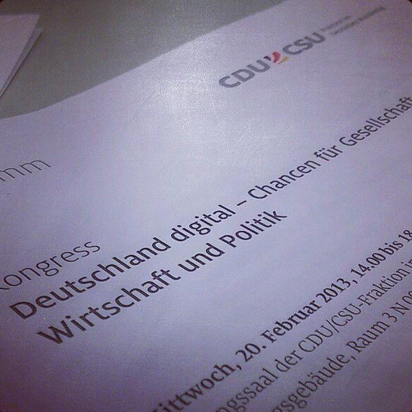 """Programm des Kongress """"Deutschland digital"""""""