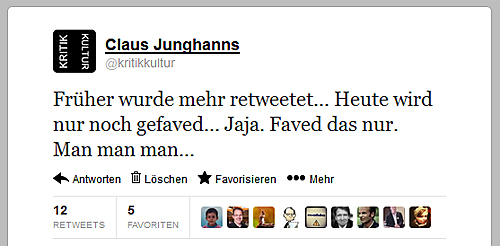 Screenshot eines Tweets