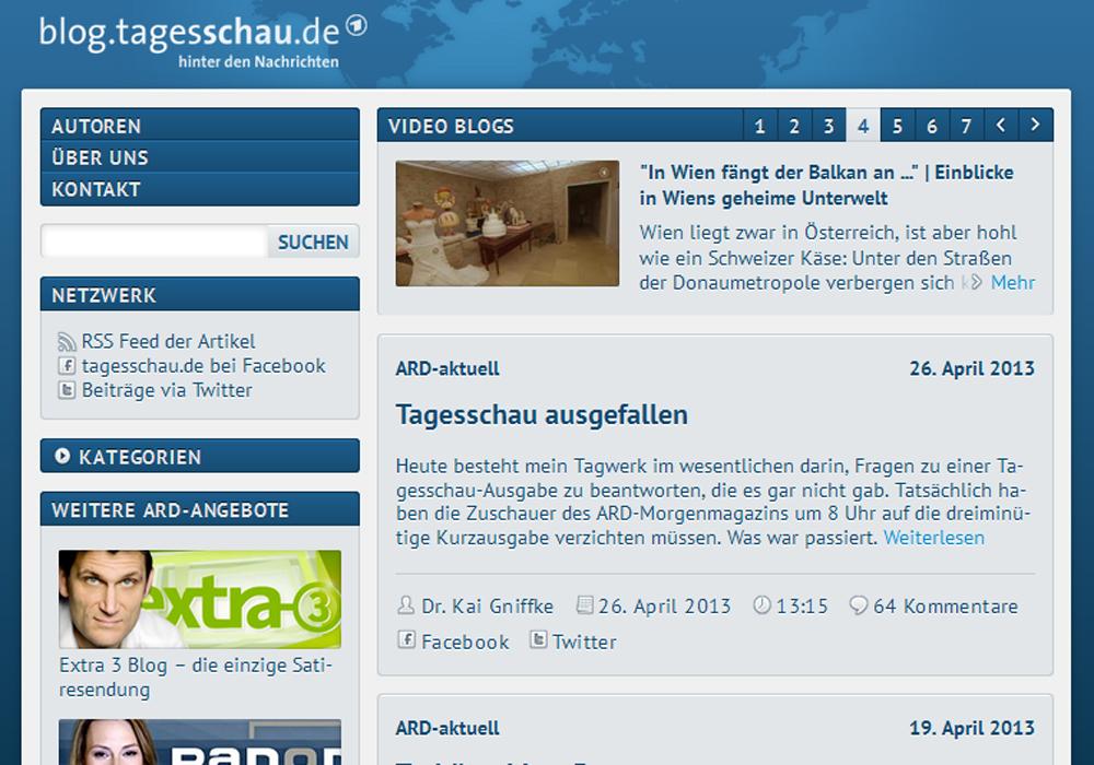 Screenshot Tagesschau-Blog
