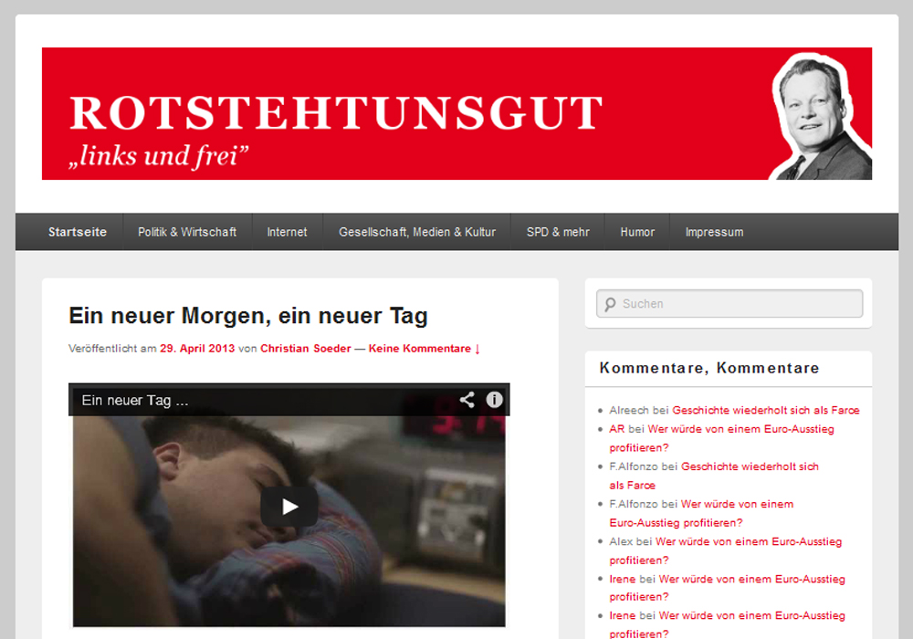 Screenshot rotstehtunsgut