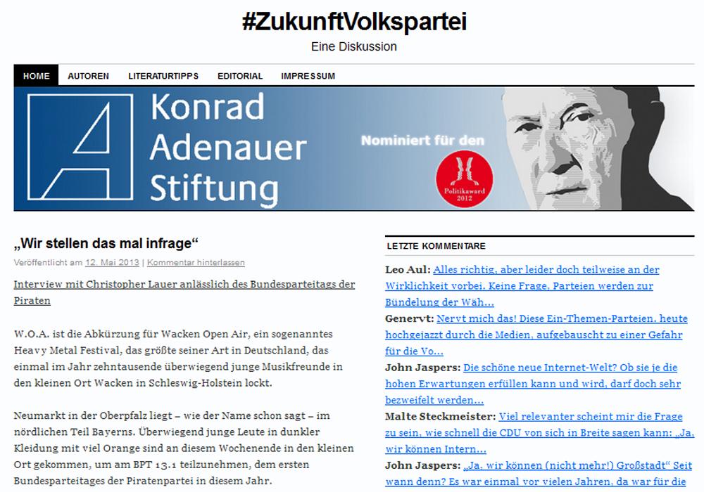 Screenshot ZukunftVolkspartei