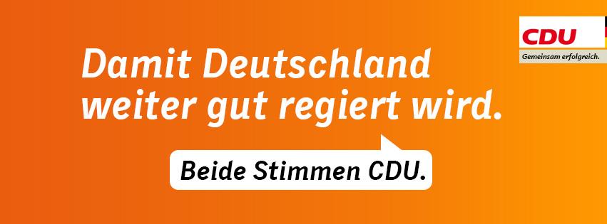 Beide Stimmen für die CDU