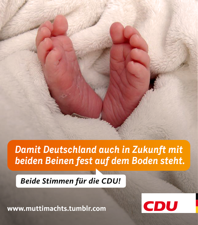 Füße - Damit Deutschland auch in Zukunft mit beiden Beinen fest auf dem Boden steht.