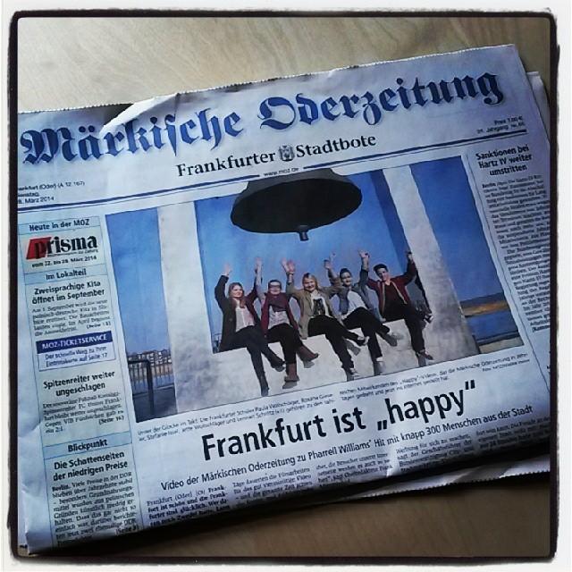 Titelseite der Märkischen Oderzeitung vom 18.3.2014